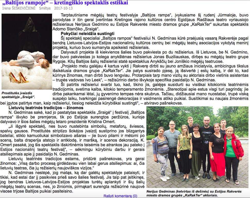 Artikkel Leedu lehes